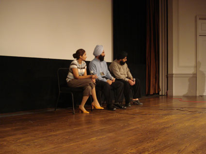 The lovely Supreet and members of Team 'Widow Colony' in a Q&A session.