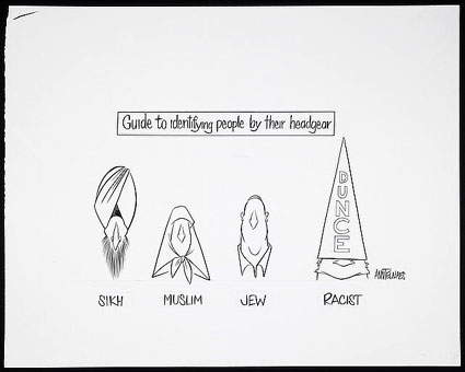 'Guide to identifying people by their headgear,' by Ann Telnaes