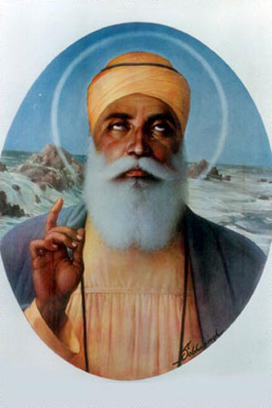 Guru Nanak Dev Ji, as depicted Sobha Singh