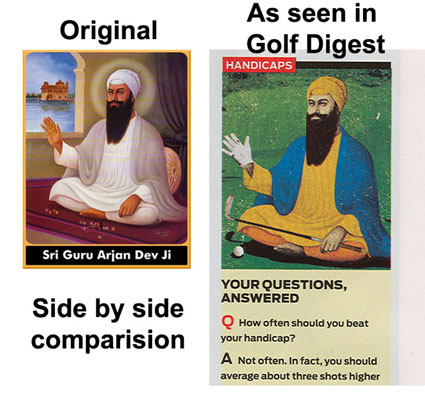 Desecration of Guru Arjan Dev Ji.