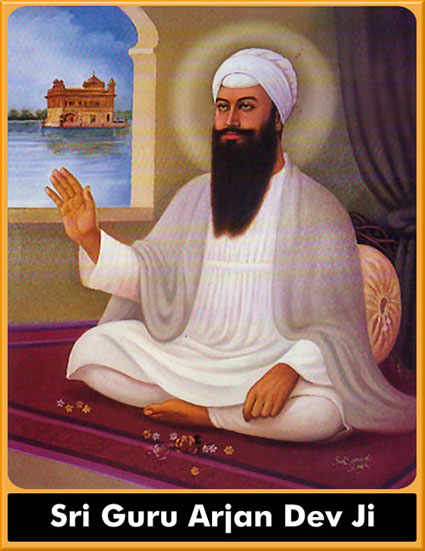 Guru Arjan Dev Ji, the Fifth Guru of the Sikh Religion.