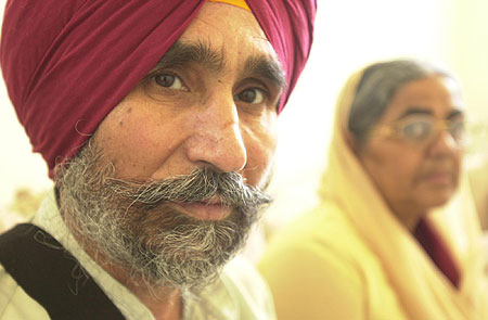 Avtar Singh Cheira was shot by an unknown assailant on May 19, 2003 at 9th Street & Bell Road in Phoenix. In the background (right) is Avtar's wife of 30 years, Surinder Kaurcheira.