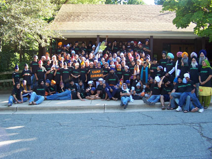 Campers, teachers and volunteers at the Camp Gurmat 2006